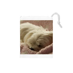Maltese Sleeping Drawstring Pouches (Small)