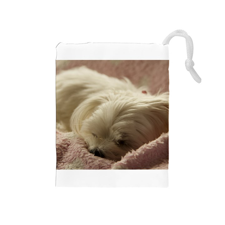 Maltese Sleeping Drawstring Pouches (Medium)