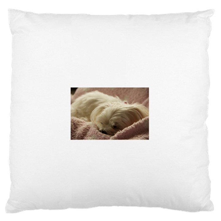 Maltese Sleeping Standard Flano Cushion Case (Two Sides)