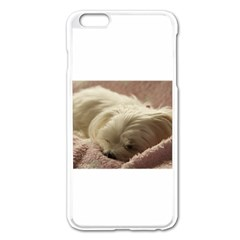 Maltese Sleeping Apple iPhone 6 Plus/6S Plus Enamel White Case