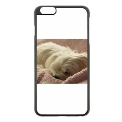 Maltese Sleeping Apple Iphone 6 Plus/6s Plus Black Enamel Case