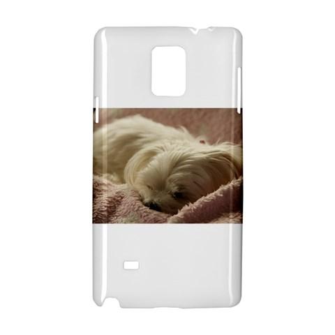 Maltese Sleeping Samsung Galaxy Note 4 Hardshell Case
