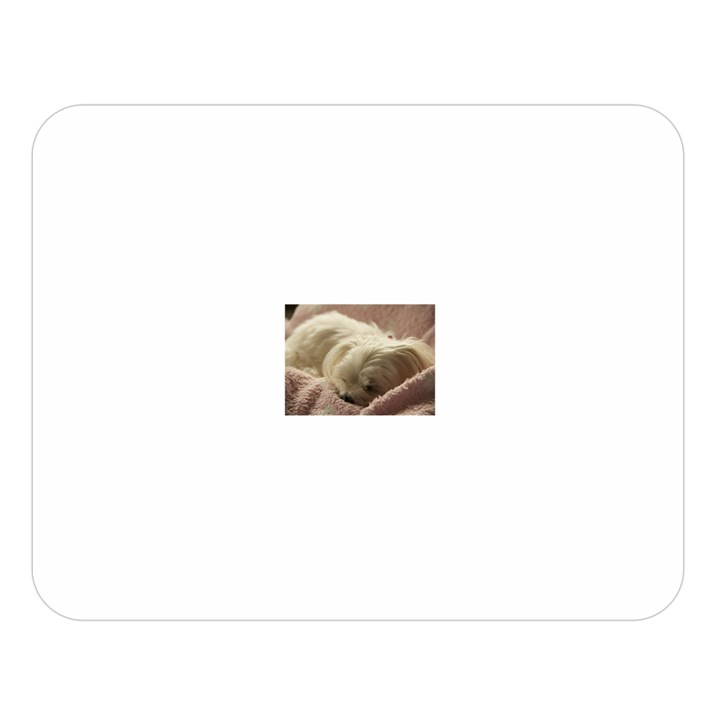 Maltese Sleeping Double Sided Flano Blanket (Large)