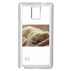 Maltese Sleeping Samsung Galaxy Note 4 Case (White)