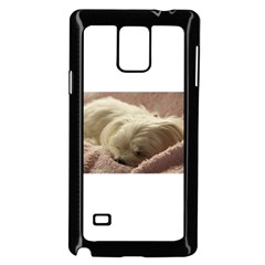 Maltese Sleeping Samsung Galaxy Note 4 Case (Black)