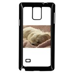 Maltese Sleeping Samsung Galaxy Note 4 Case (Black) Front