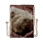 Maltese Sleeping Drawstring Bag (Small) Front