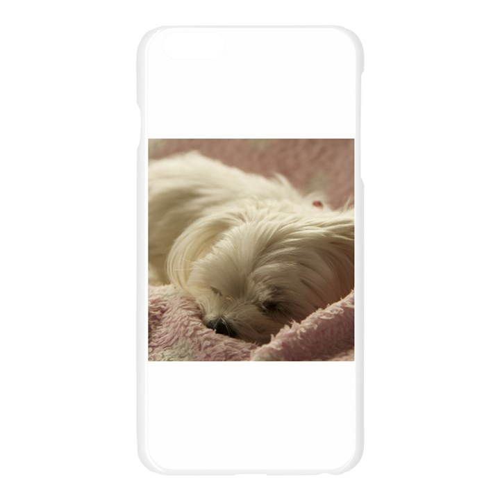 Maltese Sleeping Apple Seamless iPhone 6 Plus/6S Plus Case (Transparent)