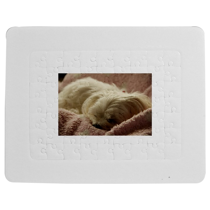 Maltese Sleeping Jigsaw Puzzle Photo Stand (Rectangular)