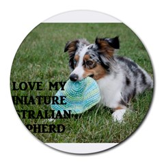 Blue Merle Miniature American Shepherd Love W Pic Round Mousepads