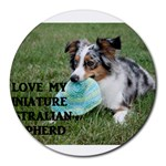 Blue Merle Miniature American Shepherd Love W Pic Round Mousepads Front