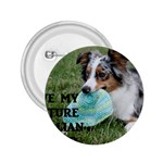 Blue Merle Miniature American Shepherd Love W Pic 2.25  Buttons Front