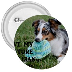 Blue Merle Miniature American Shepherd Love W Pic 3  Buttons