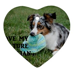 Blue Merle Miniature American Shepherd Love W Pic Ornament (Heart)