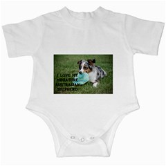Blue Merle Miniature American Shepherd Love W Pic Infant Creepers