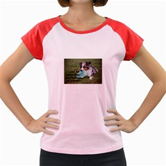 Blue Merle Miniature American Shepherd Love W Pic Women s Cap Sleeve T-Shirt