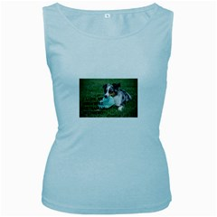 Blue Merle Miniature American Shepherd Love W Pic Women s Baby Blue Tank Top
