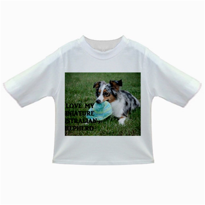 Blue Merle Miniature American Shepherd Love W Pic Infant/Toddler T-Shirts