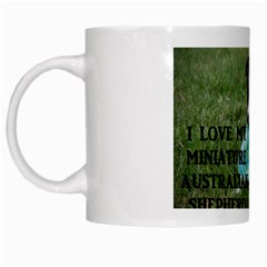 Blue Merle Miniature American Shepherd Love W Pic White Mugs