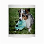 Blue Merle Miniature American Shepherd Love W Pic White Mugs Center