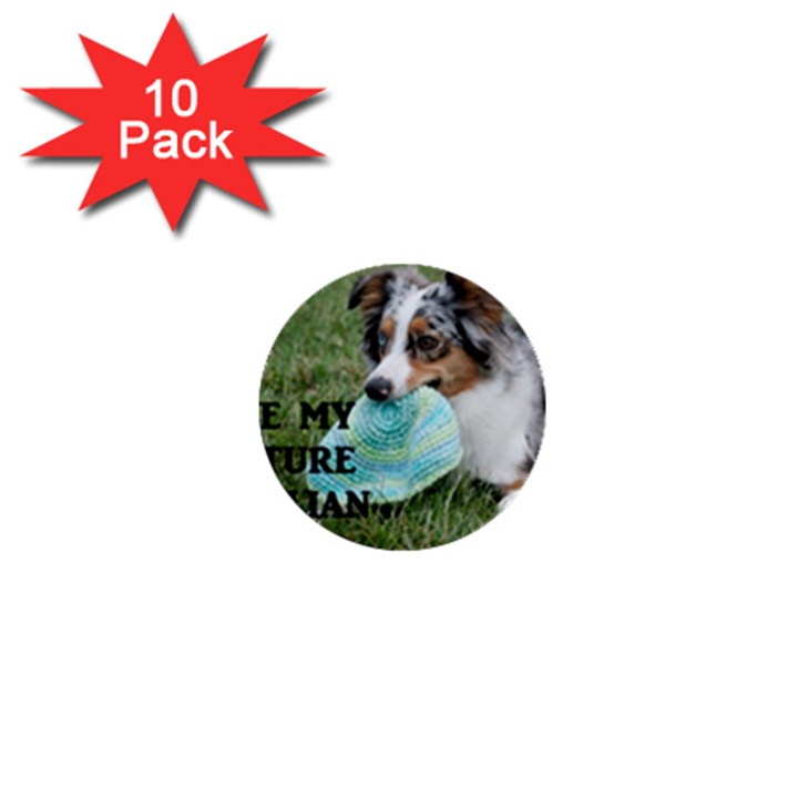 Blue Merle Miniature American Shepherd Love W Pic 1  Mini Buttons (10 pack)