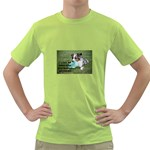 Blue Merle Miniature American Shepherd Love W Pic Green T-Shirt Front