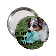 Blue Merle Miniature American Shepherd Love W Pic 2.25  Handbag Mirrors