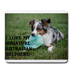 Blue Merle Miniature American Shepherd Love W Pic Large Mousepads
