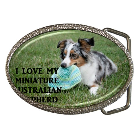 Blue Merle Miniature American Shepherd Love W Pic Belt Buckles