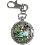 Blue Merle Miniature American Shepherd Love W Pic Key Chain Watches Front