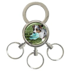 Blue Merle Miniature American Shepherd Love W Pic 3-Ring Key Chains