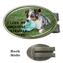Blue Merle Miniature American Shepherd Love W Pic Money Clips (Oval)