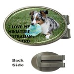 Blue Merle Miniature American Shepherd Love W Pic Money Clips (Oval)  Front