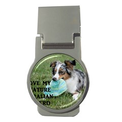 Blue Merle Miniature American Shepherd Love W Pic Money Clips (Round)