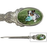 Blue Merle Miniature American Shepherd Love W Pic Letter Openers Front