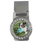 Blue Merle Miniature American Shepherd Love W Pic Money Clips (CZ)  Front
