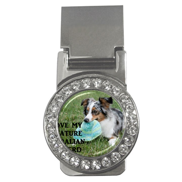 Blue Merle Miniature American Shepherd Love W Pic Money Clips (CZ)