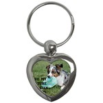 Blue Merle Miniature American Shepherd Love W Pic Key Chains (Heart)  Front