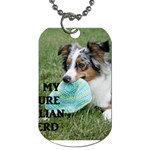 Blue Merle Miniature American Shepherd Love W Pic Dog Tag (One Side) Front