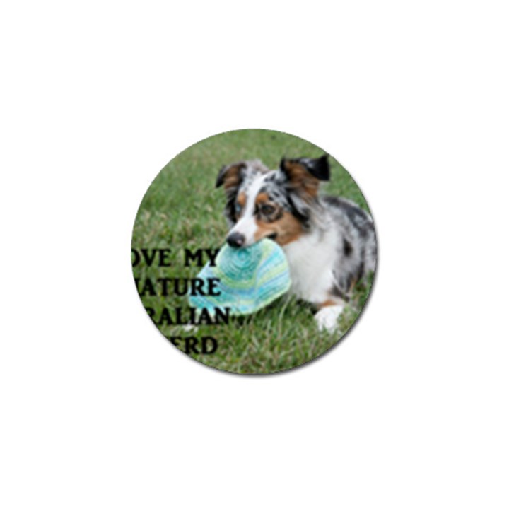 Blue Merle Miniature American Shepherd Love W Pic Golf Ball Marker