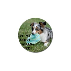 Blue Merle Miniature American Shepherd Love W Pic Golf Ball Marker (4 pack)