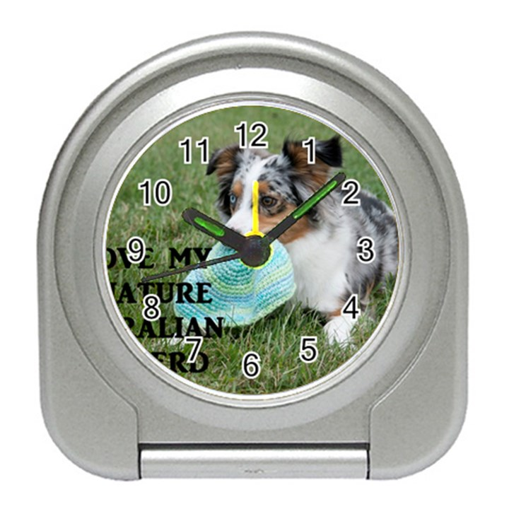 Blue Merle Miniature American Shepherd Love W Pic Travel Alarm Clocks
