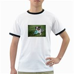Blue Merle Miniature American Shepherd Love W Pic Ringer T-Shirts Front