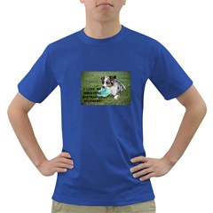 Blue Merle Miniature American Shepherd Love W Pic Dark T Shirt