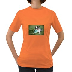 Blue Merle Miniature American Shepherd Love W Pic Women s Dark T-Shirt