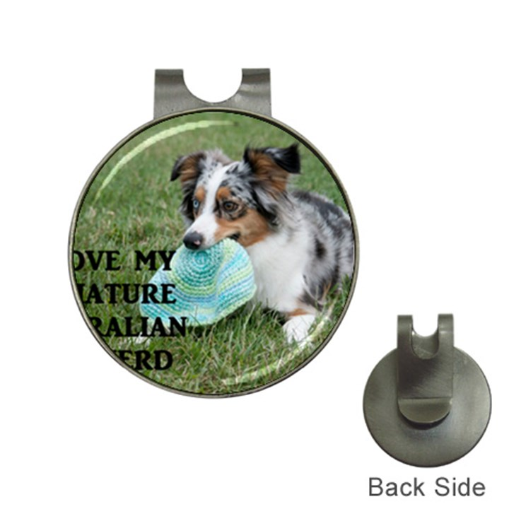 Blue Merle Miniature American Shepherd Love W Pic Hat Clips with Golf Markers