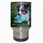 Blue Merle Miniature American Shepherd Love W Pic Travel Mugs (White) Center