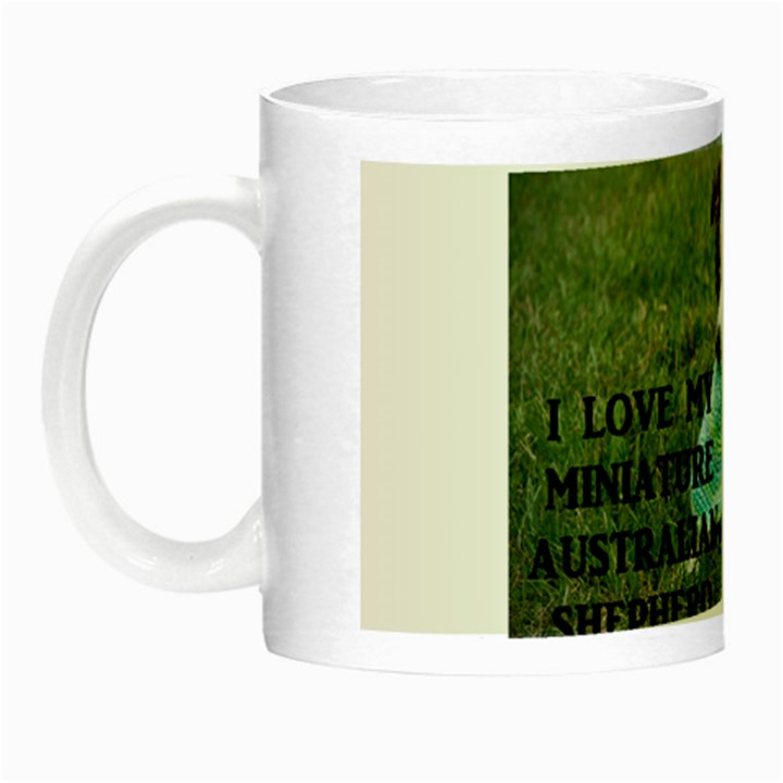 Blue Merle Miniature American Shepherd Love W Pic Night Luminous Mugs