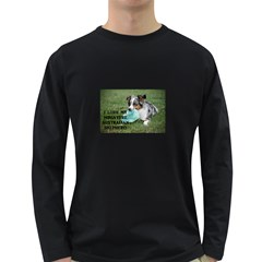 Blue Merle Miniature American Shepherd Love W Pic Long Sleeve Dark T Shirts