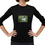 Blue Merle Miniature American Shepherd Love W Pic Women s Long Sleeve Dark T-Shirts Front